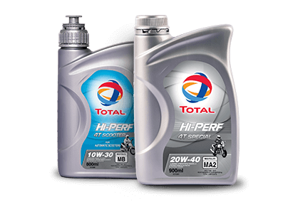 TOTAL HI-PERF MOTORCYCLE ENGINE OIL RANGE 1
