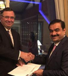 Press release - Total Joins Forces With Indian Private Adani Group to Expand in Natural Gas And Fuel Retail Activities in India