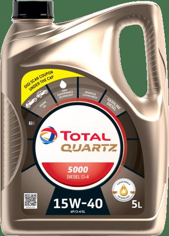 Automotive Lubricants - Cars - Our Products - QUARTZ Diesel 5000 15W40